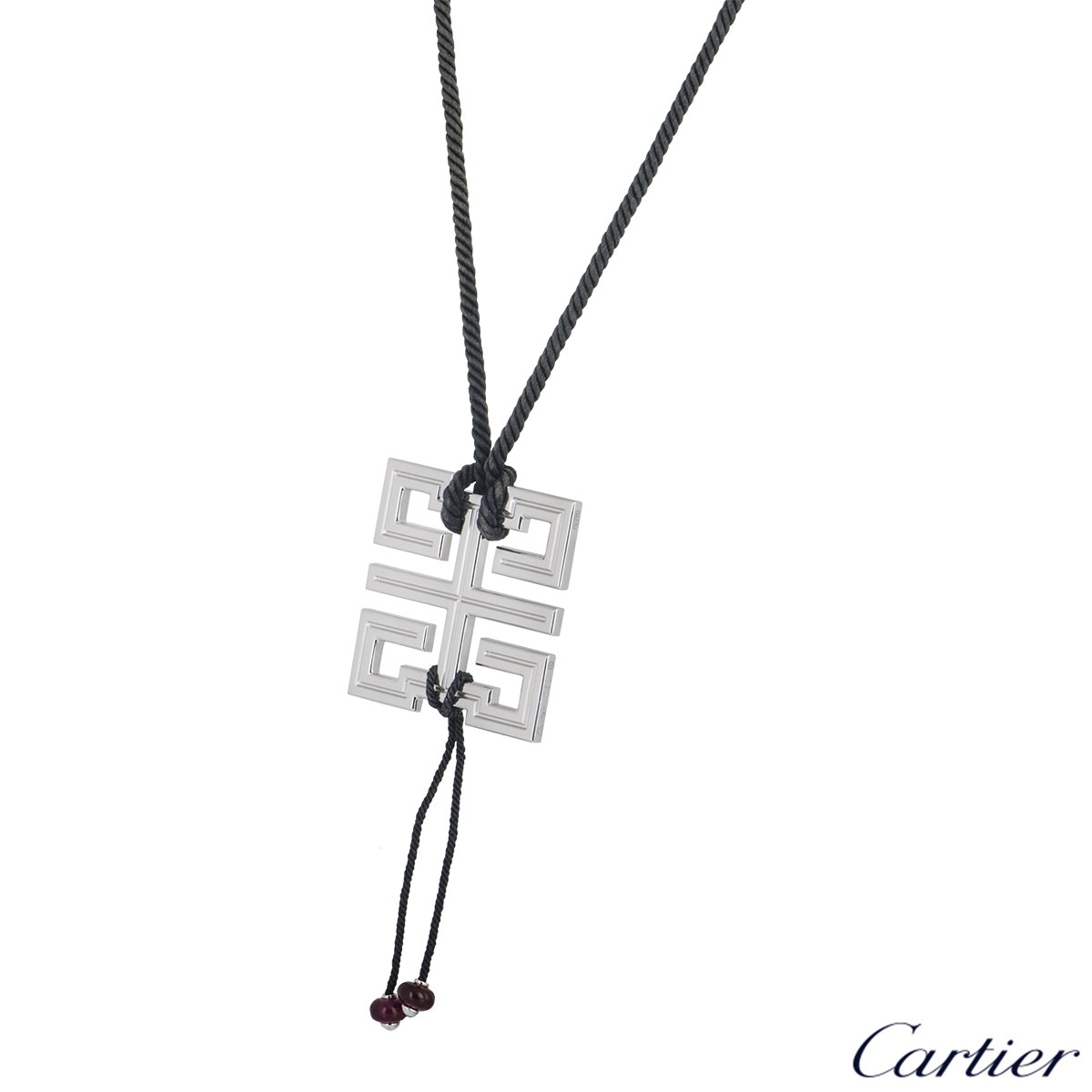 Cartier White Gold Le Baiser Du Dragon Pendant